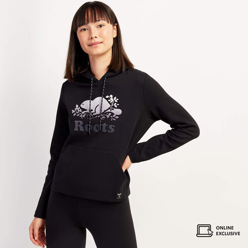 Roots-New For November Online Exclusives-Ombre Kanga Hoody-Black-A
