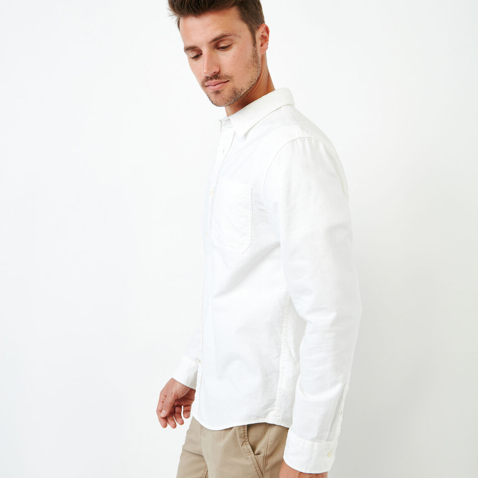 Roots-Men Our Favourite New Arrivals-Napanee Oxford Shirt-Ivory-C