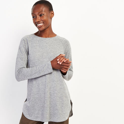 Roots-Women Clothing-Julie Top-Med Grey Mix-A