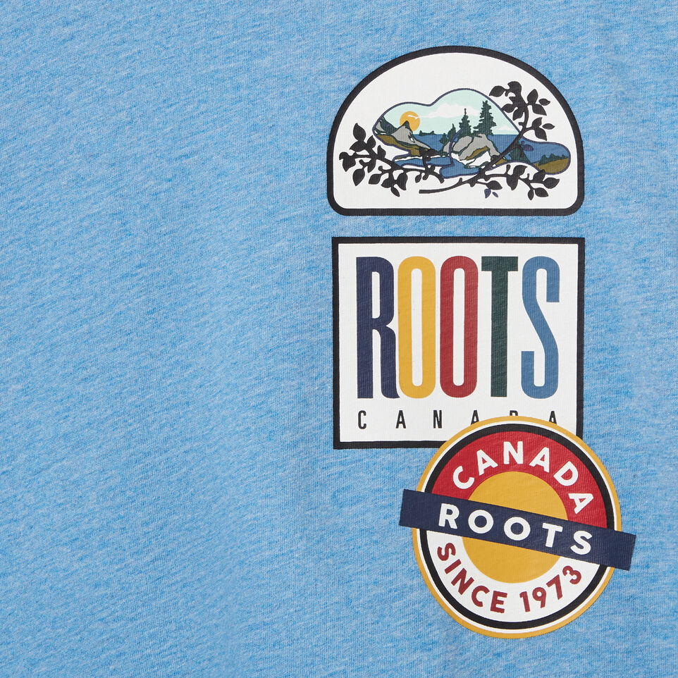 Roots-undefined-T-shirt écussons de camp pour garçons-undefined-C