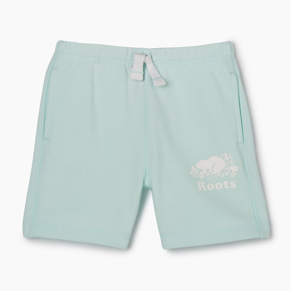 Roots-Kids New Arrivals-Toddler Original Roots Short-Bleached Aqua-A