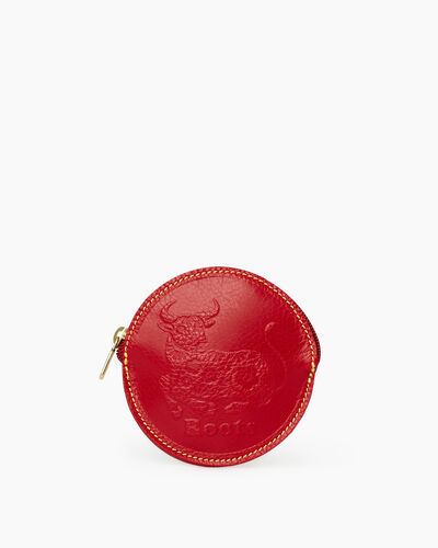 Roots-Men Leather Accessories-Ox Coin Pouch Prince-Red-A