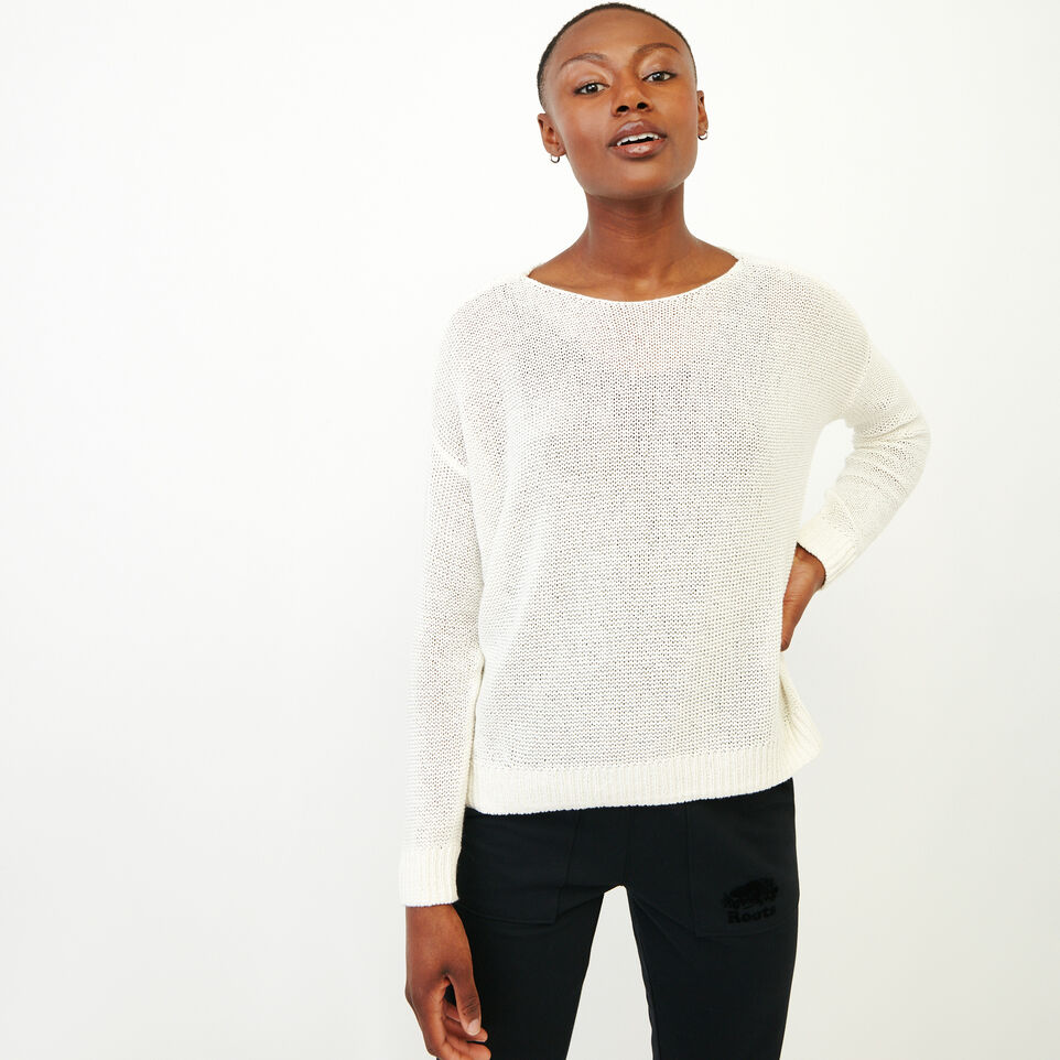 Roots-Women Our Favourite New Arrivals-Hillsview Pullover Sweater-Ivory-A