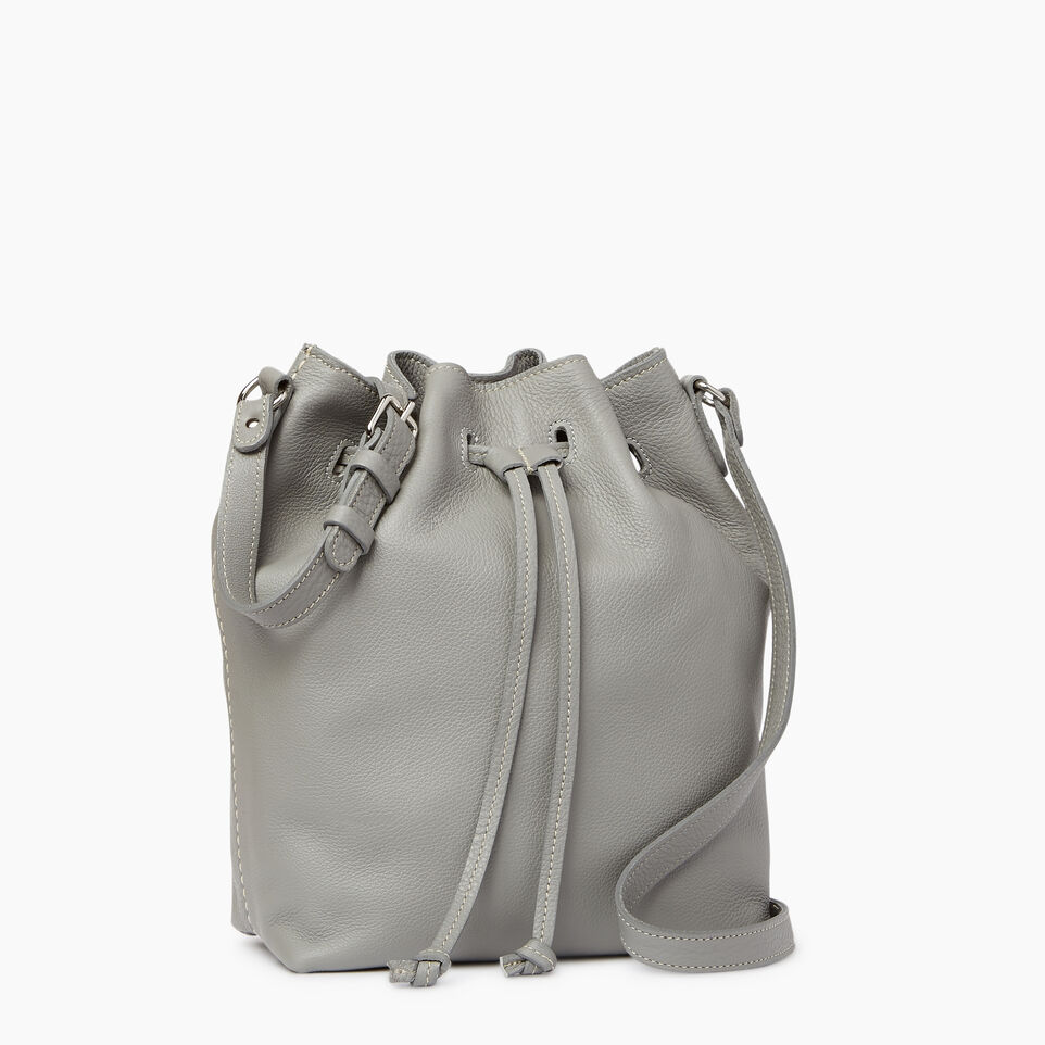 Roots-Leather Handbags-Sherbrooke Bucket-Silverstone-A