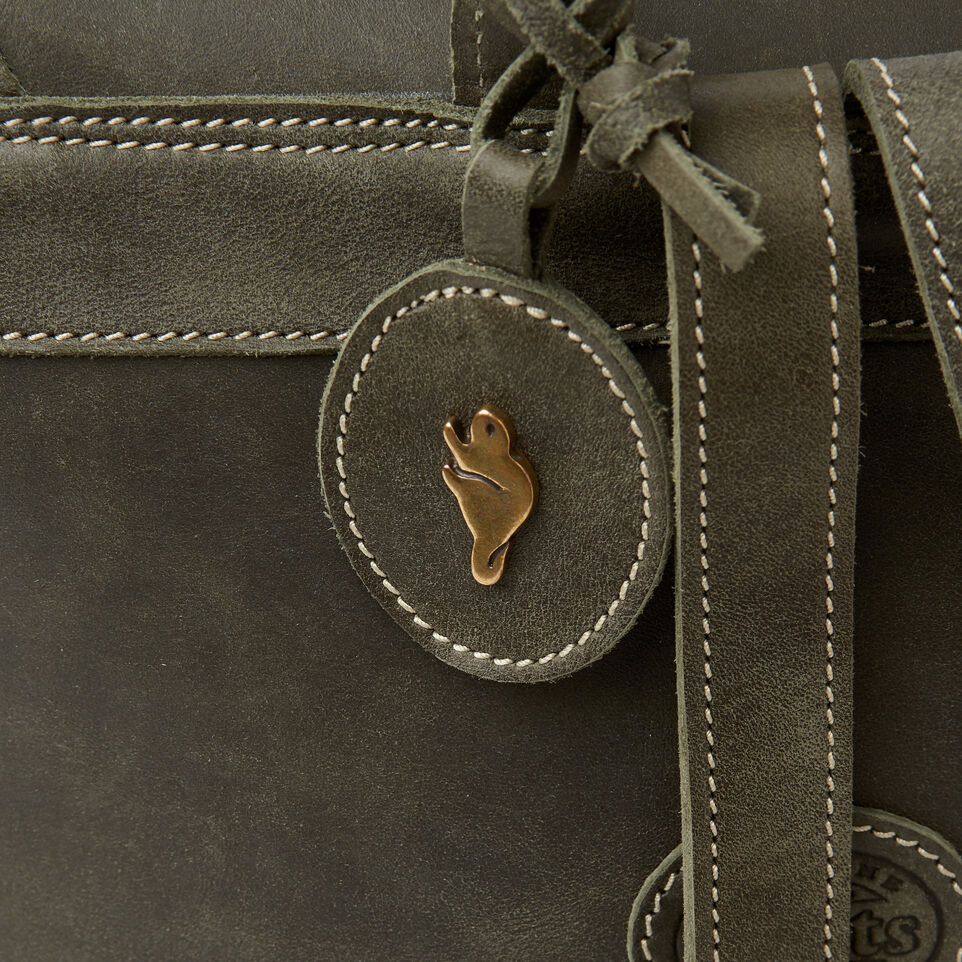 Roots-Leather  Handcrafted By Us Our Favourite New Arrivals-Little Nells Backpack-Pine-D