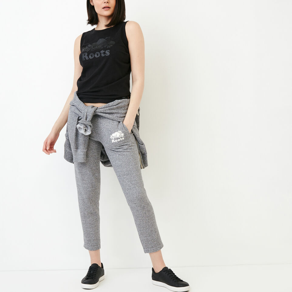 Roots-Clearance Women-Roots Ankle Sweatpant-Salt & Pepper-B