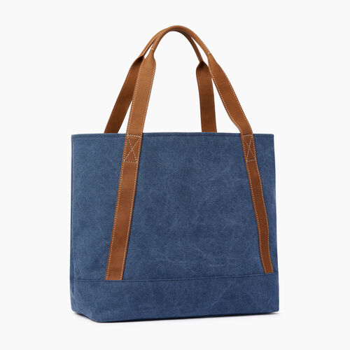 Roots-Women Our Favourite New Arrivals-Muskoka Tote Canvas-Navy-C