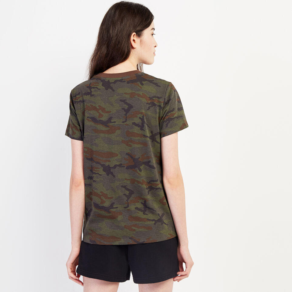 Roots-undefined-Womens Camo Lozenge T-shirt-undefined-D