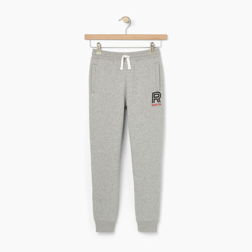 Roots-Winter Sale Kids-Boys Sportsmas Fleece Pant-Grey Mix-A