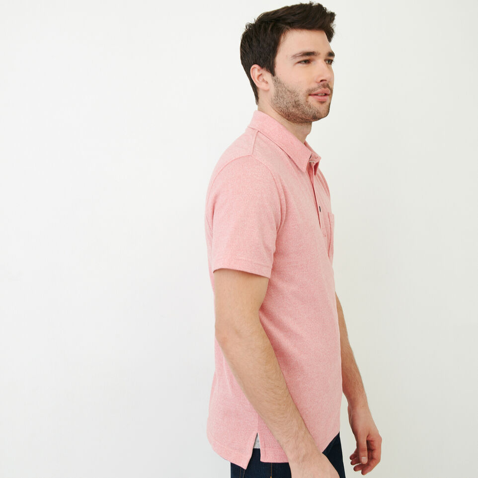 Roots-Men Our Favourite New Arrivals-Jersey Peppered Polo-Pink Pepper-C