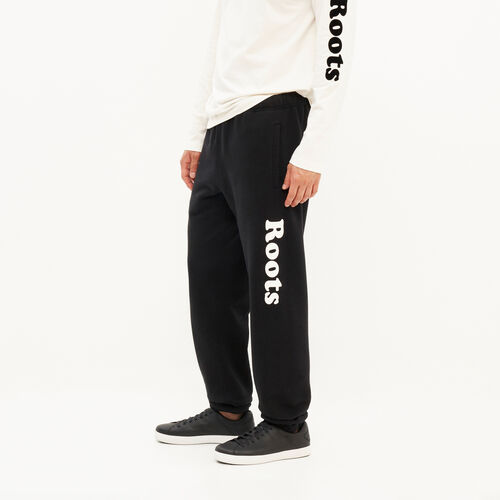 Roots-Men Original Sweatpants-Remix Sweatpant-Black-A