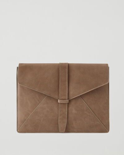 Roots-Leather Tech & Travel-Document Sleeve Tribe-Sand-A