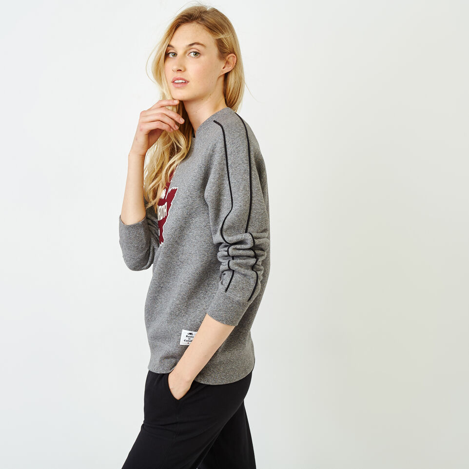 Roots-Women Canada Collection By Roots™-Womens Canada Crew Sweatshirt-Salt & Pepper-C
