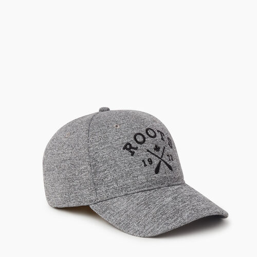 Roots-Men Accessories-Cabin Baseball Cap-Salt & Pepper-A