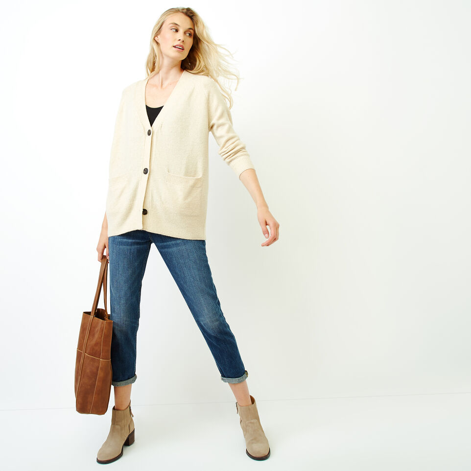 Roots-Women Our Favourite New Arrivals-Hemlock Button Cardigan-Fog Mix-B