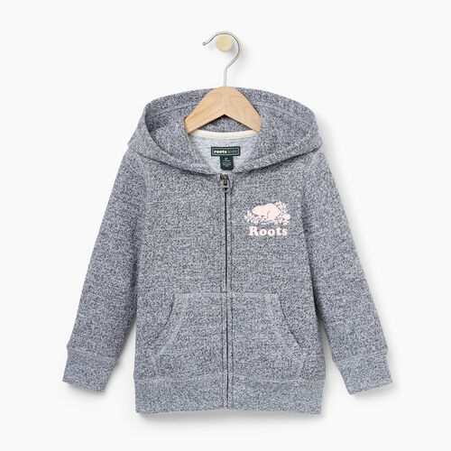 Roots-Kids Tops-Toddler Original Full Zip Hoody-Salt & Pepper-A