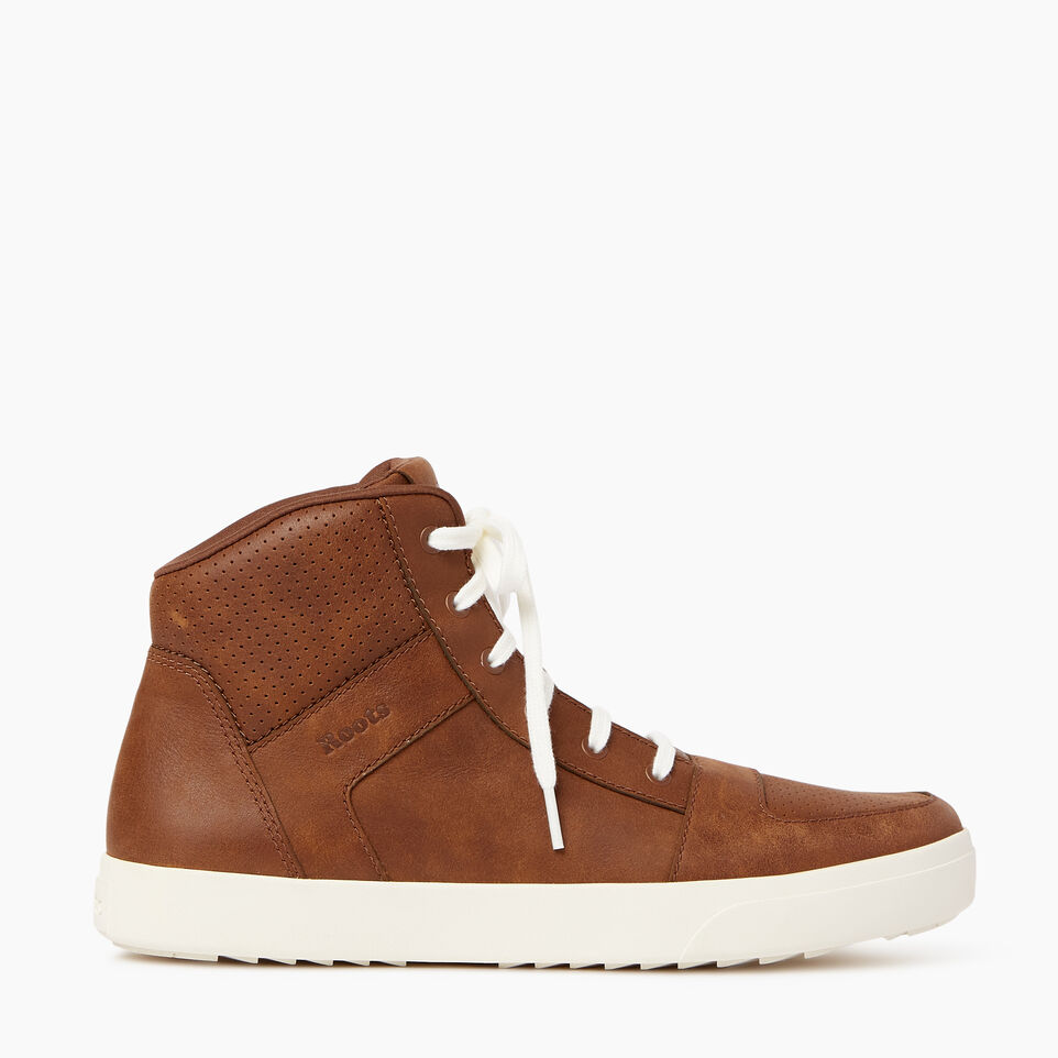 Roots-Footwear Men's Footwear-Mens Ossington Hightop-Natural-A