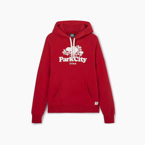 Roots-New For May City Collection-Park City Kanga Hoody - Mens-Sage Red-A