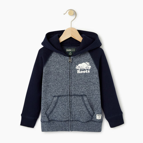 Roots-Kids Toddler Boys-Toddler Original Full Zip Hoody-Navy Blazer Pepper-A
