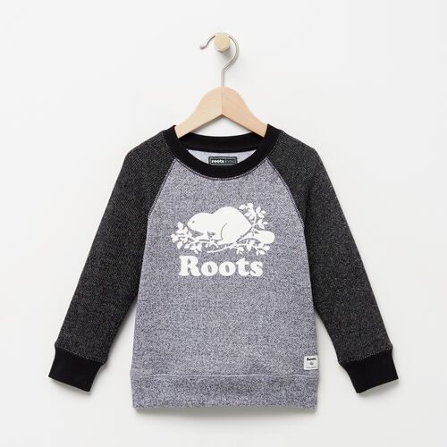Roots-Clearance Kids-Toddler Original Crewneck Sweatshirt-Black Pepper-A