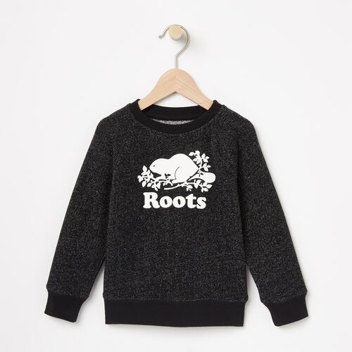 Roots-Kids Toddler Boys-Toddler Original Crew Sweatshirt-Black Pepper-A