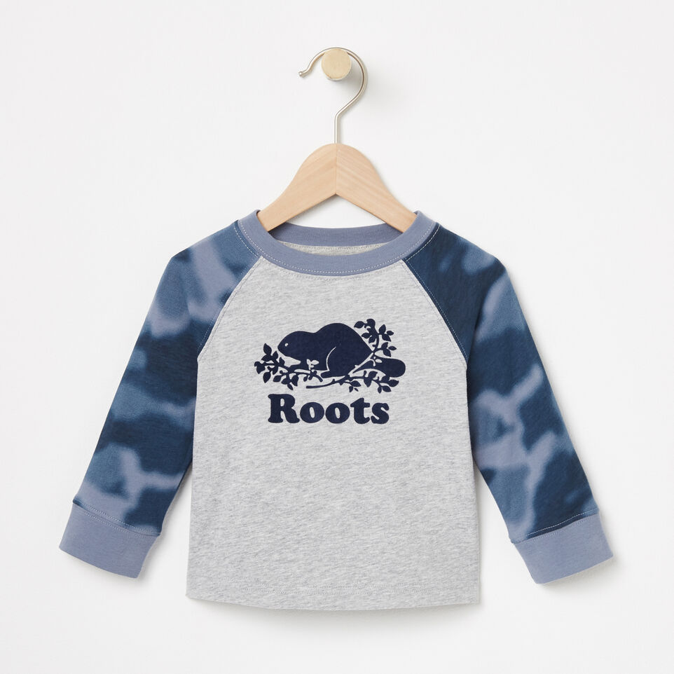 Roots-Baby Blurred Camo Top