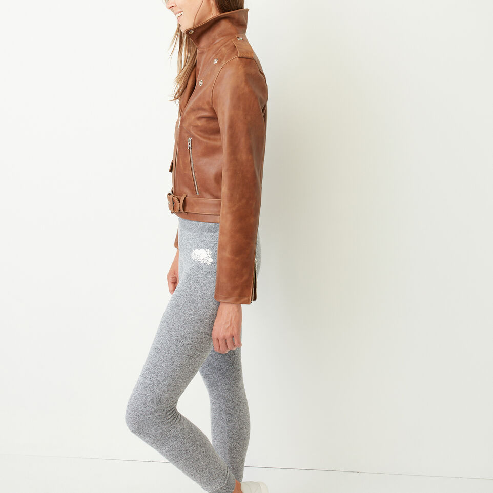 Roots-Leather Leather Jackets-Moto Jacket Tribe-Natural-D