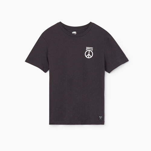 Roots-Sale Tops-Mens Roots Raiders Peace T-shirt-Charcoal-A