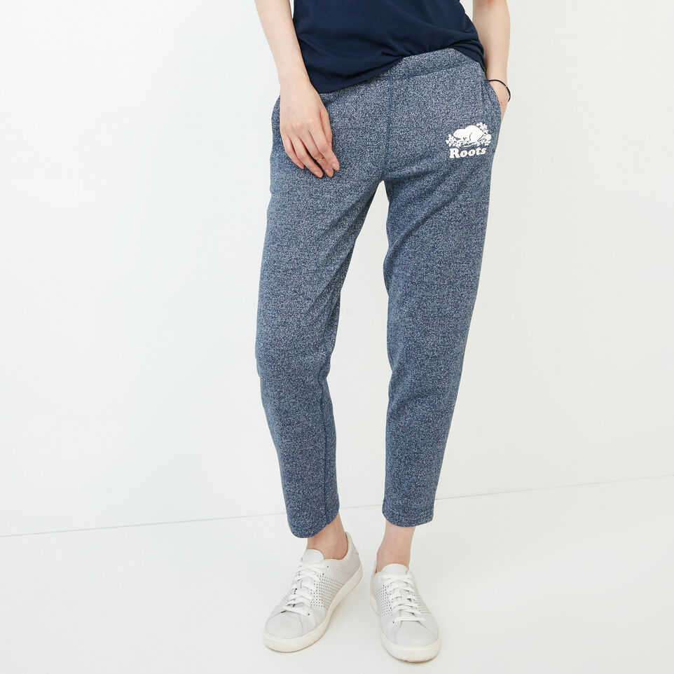 Roots-Women Clothing-Roots Ankle Sweatpant-Navy Blazer Pepper-C