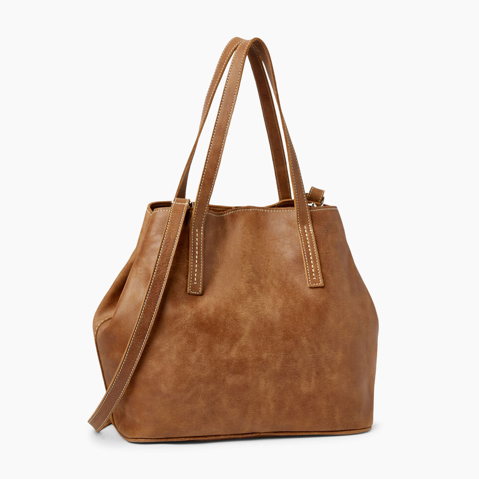 Roots-Leather  Handcrafted By Us Our Favourite New Arrivals-Amelia Tote Tribe-Natural-C