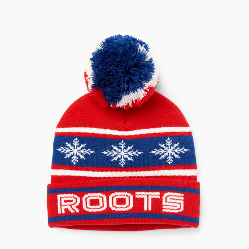 Roots-Kids Boys-Kids Retro Fair Isle Toque-Racing Red-A