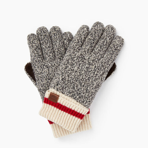 Roots-Winter Sale Women-Roots Cabin Glove-Grey Oat Mix-A