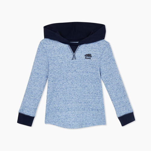 Roots-Kids Tops-Toddler Thermal Hoody-Blue Mix-A