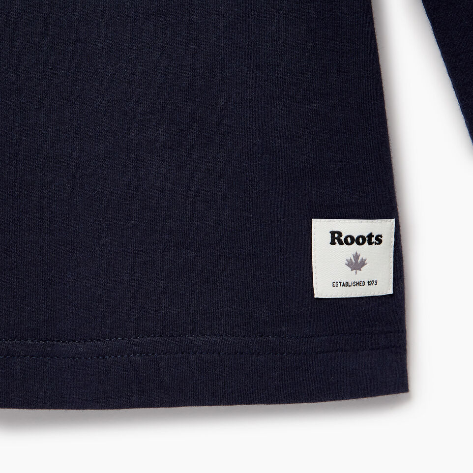 Roots-Men Our Favourite New Arrivals-Mens Roots Miami Long Sleeve T-shirt-Navy Blazer-E