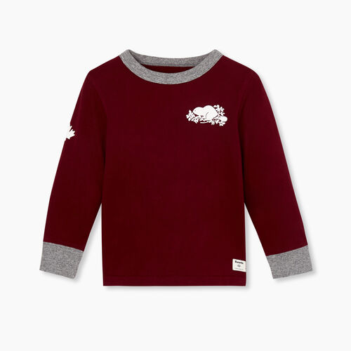 Roots-Kids Tops-Toddler Remix T-shirt-Mulberry-A