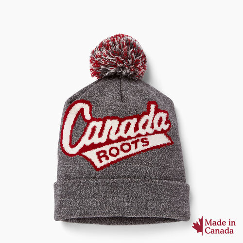 Roots-Women Collections-Canada Pom Pom Toque-Salt & Pepper-A