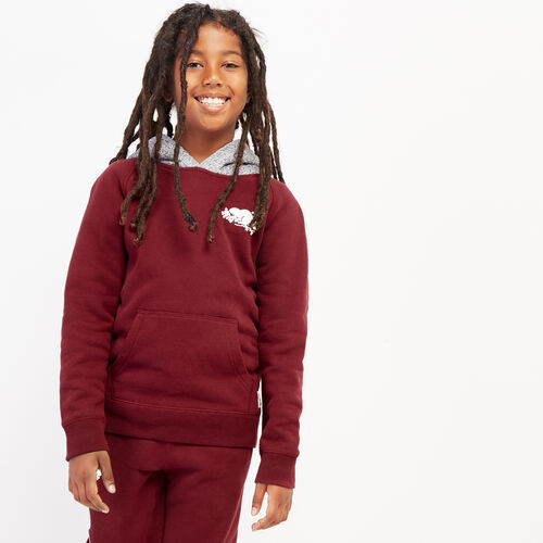 Roots-Kids Bestsellers-Boys Remix Kanga Hoody-Mulberry-A