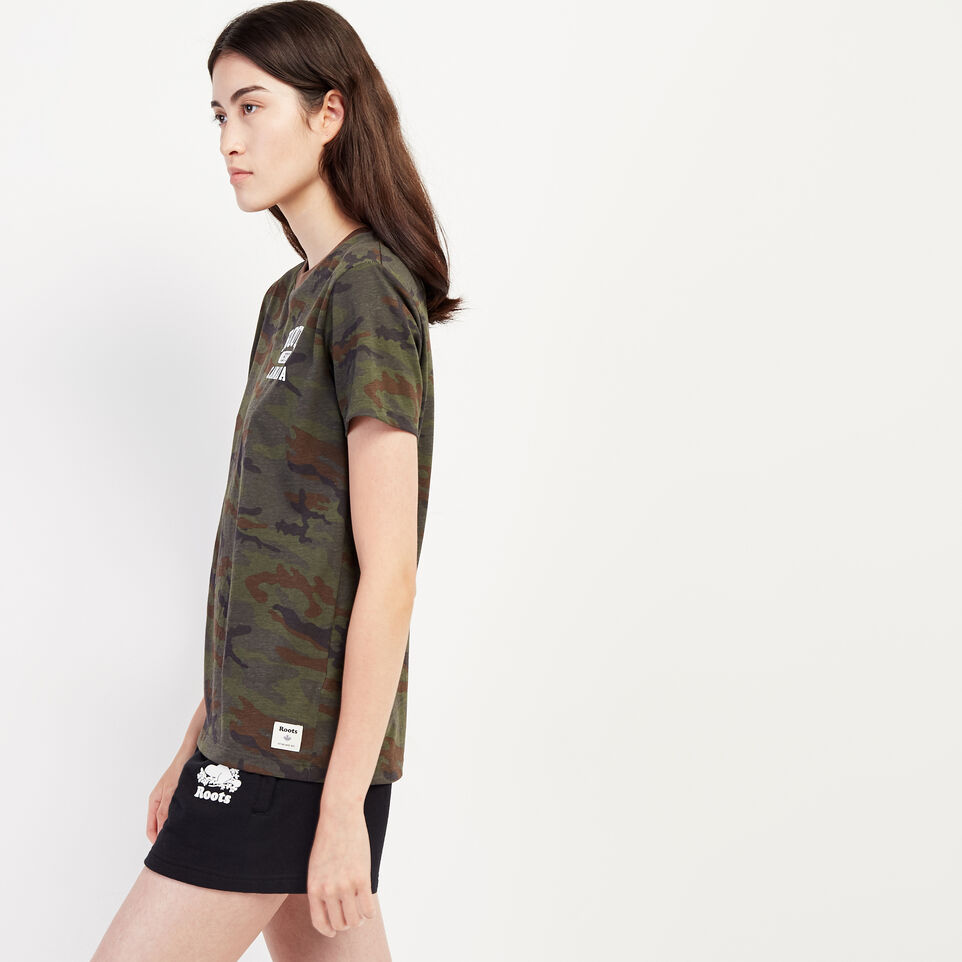 Roots-undefined-Womens Camo Lozenge T-shirt-undefined-C