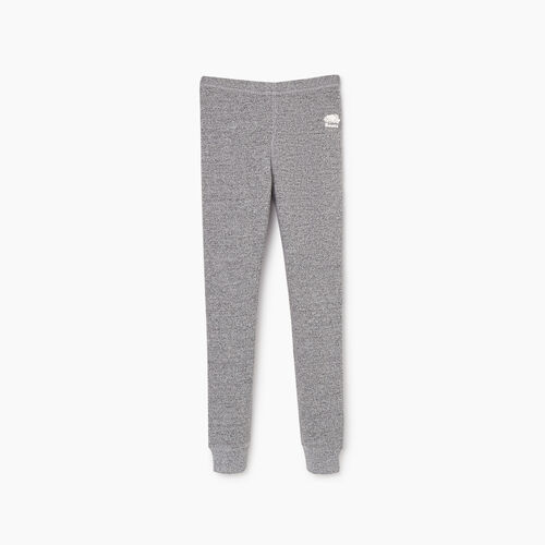 Roots-Kids Sweats-Girls Cozy Fleece Legging-Salt & Pepper-A