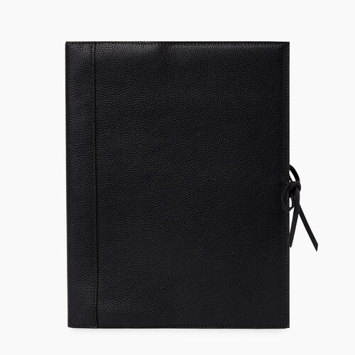 Roots-Women Leather Accessories-Large Sketchbook Cervino-Black-A