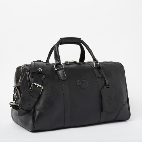 3546f720358 Roots-Leather Handcrafted By Us Weekender Bags-Small Banff Bag Prince-Black-