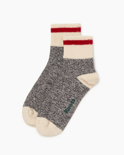 Roots-Women Accessories-Womens Classic Cotton Ankle Sock 2 Pack-Salt & Pepper-A