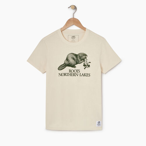 Roots-New For April Heather Cooper Collection-Womens Cooper Heather Beaver T-shirt-Natural-A