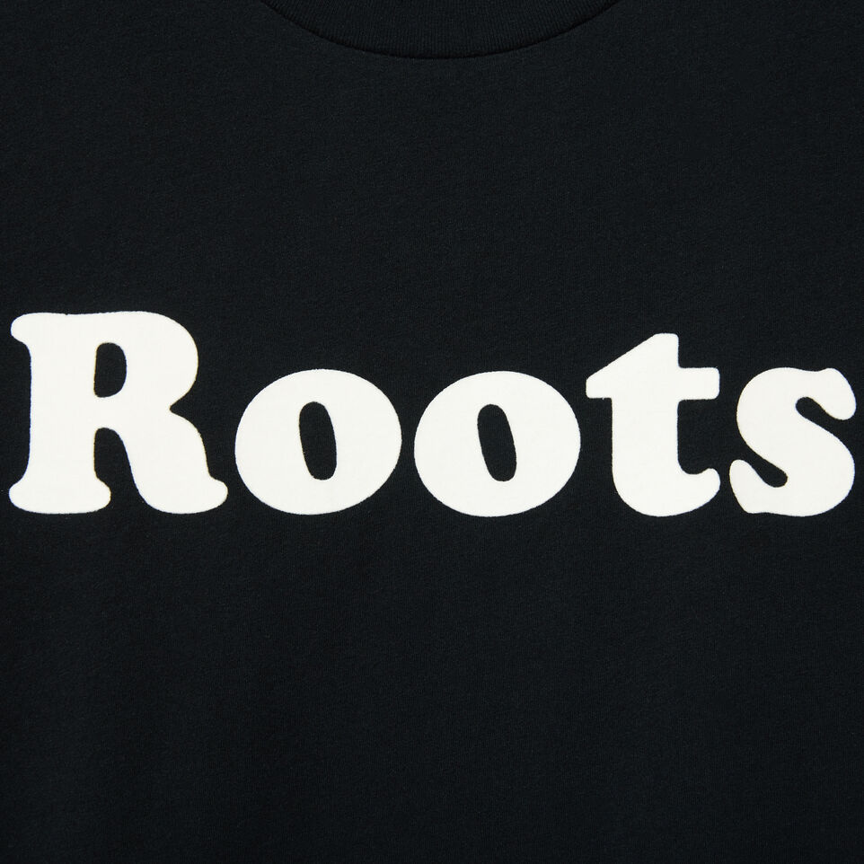 Roots-undefined-Mens Roots Wordmark T-shirt-undefined-D