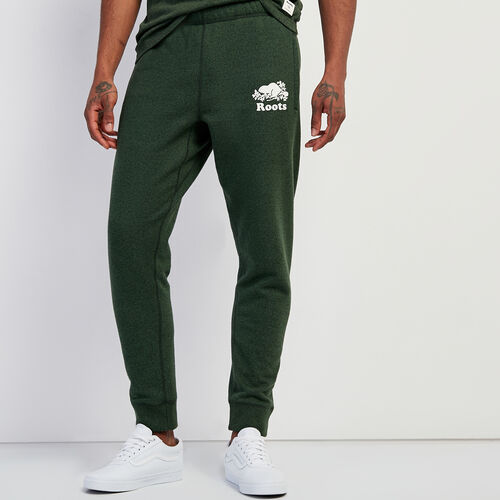 Roots-Men New Arrivals-Original Park Slim Sweatpant-Camp Green Pepper-A