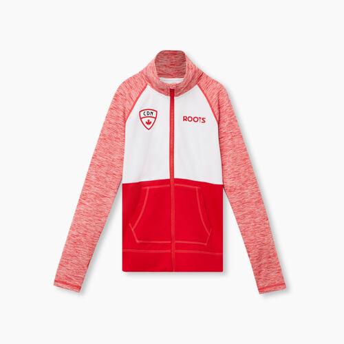 Roots-Sweats Sweatsuit Sets-Girls Stadium Track Jacket-Racing Red Mix-A