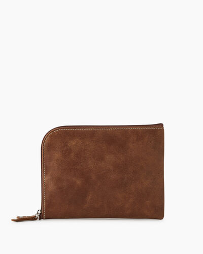 Roots-Leather Tech & Travel-Travel Commuter Pouch Tribe-Natural-A