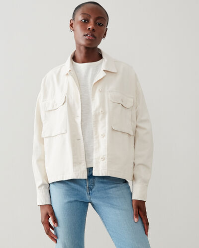 Roots-Women Jackets & Outerwear-Greenbud Jacket-Whisper White-A
