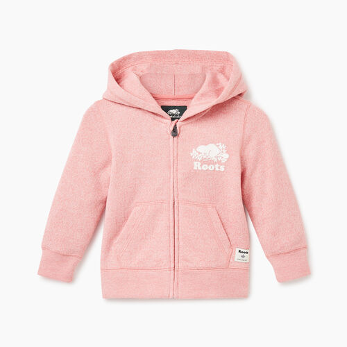 Roots-Kids Baby-Baby Original Full Zip Hoody-Sunset Apricot Ppr-A