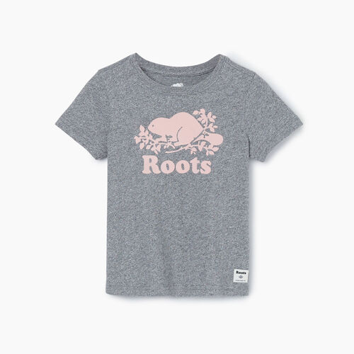 Roots-Kids New Arrivals-Toddler Original Cooper Beaver T-shirt-Salt & Pepper-A